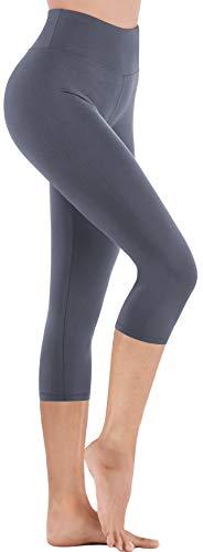 IUGA - Pantalon de yoga taille haute avec poches pour femme -, Femme, Gray Capris, Small