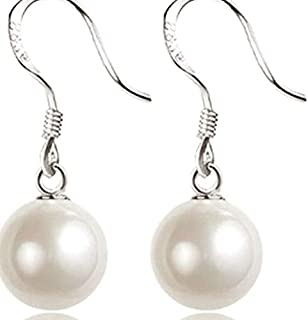J&J Deep Ocean Pearl Temperament S925 Silver Earrings