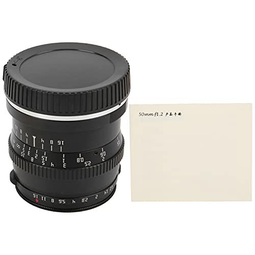 ROMACK Obiettivo APS‑C, Non limitato ai Ritratti Obiettivo F1.2 da 50 mm per Z5 Z6 Z7 Z50 Z6II Z7II