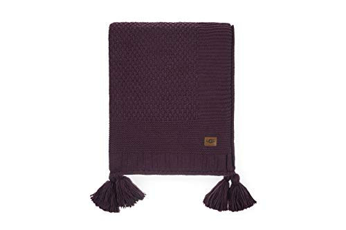 UGG Preston Sweater Knit Tassel - Chunky Throw Blanket, Eucalyptus