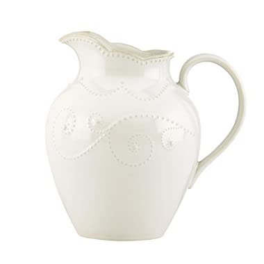 Lenox French Perle Pitcher, Medium, White