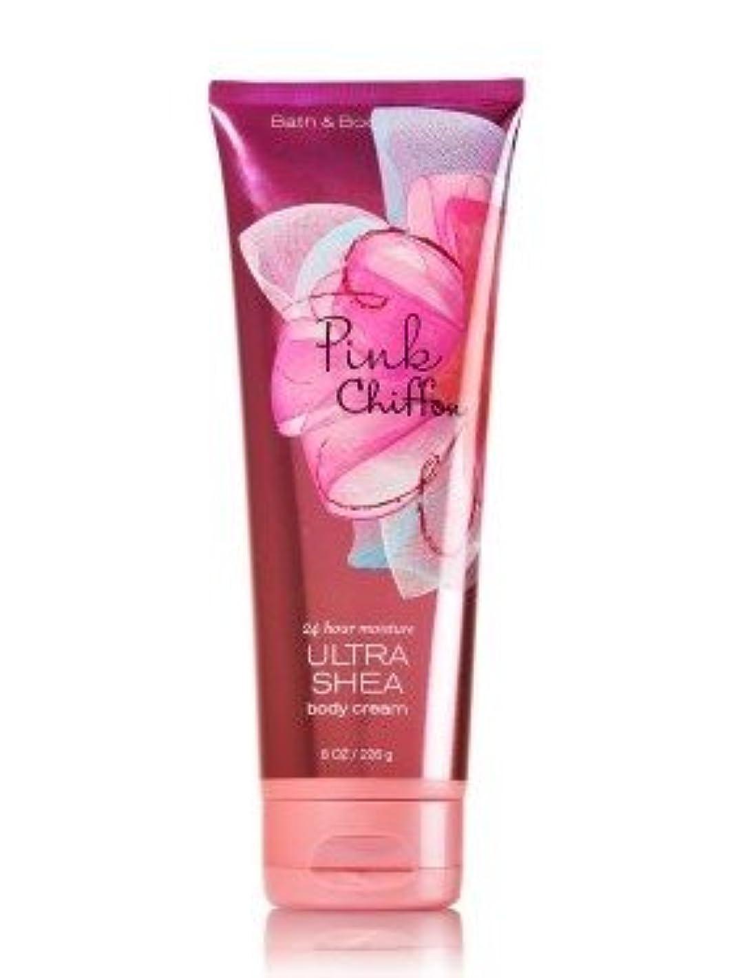 ピアース追跡見捨てる【Bath&Body Works/バス&ボディワークス】 ボディクリーム ピンクシフォン Ultra Shea Body Cream Pink Chiffon 8 oz / 226 g [並行輸入品]