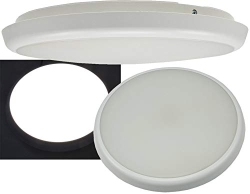 ChiliTec LED Deckenleuchte mit HF Bewegungsmelder IP54 22Watt Präsenzmelder 8m Reichweite für Büro Flur Hotel, Neutralweiß