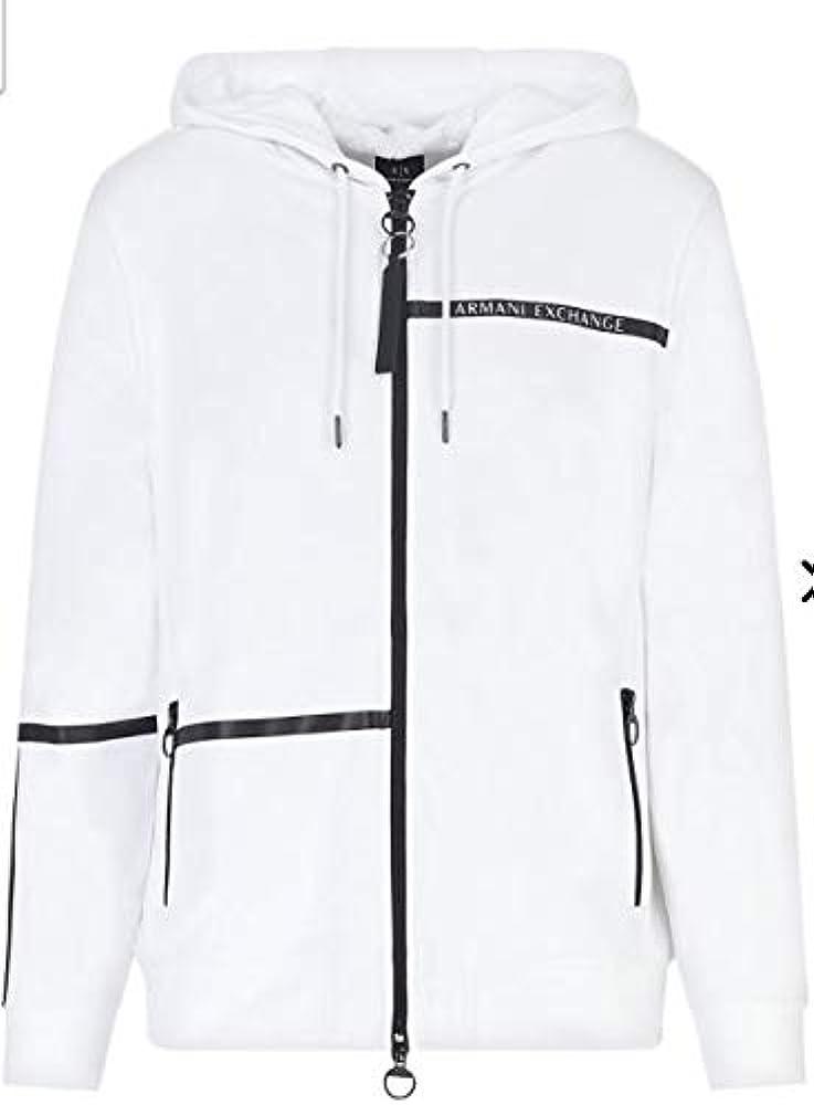 Armani exchange, sweatshirt, felpa con cappuccio per uomo,54% cotone, 46% poliestere 3KZMFDZJ9FZ1100