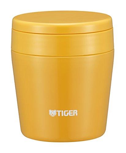 タイガー 魔法瓶 真空 断熱 スープ ジャー 250ml 保温 弁当箱 広口 まる底 サフランイエロー MCL-B025-YS T...