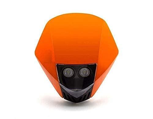 Orange Moto Phare - LED 12V 35W - Projet Streetfighter Supermoto