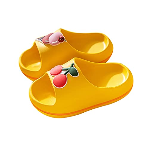 YXCKG Zapatillas De Frutas De Verano, Chanclas De Baño para Niños Pequeños, Sandalias para Niños Zapatillas De Piscina Antideslizantes, Slides Slip FILP Flop, Material De EVA Suave