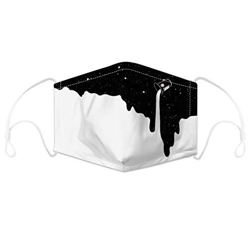 AUBIG Tejido De Protección Facial Unisex 3D Impresión Tela de Revestimiento de Cara Hombres Mujeres Adecuado para Salir Estilo 9