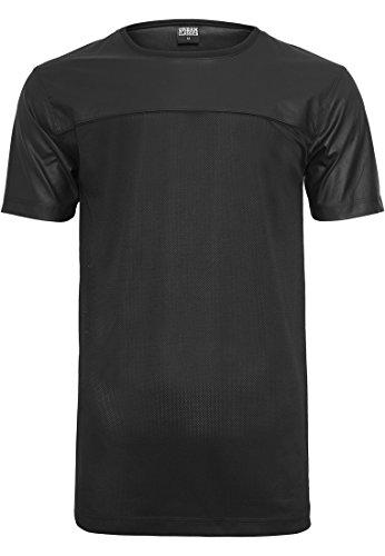 Urban Classics Herren Football Mesh Long Jersey T-Shirt, Schwarz (Blk/Blk 00017), Medium