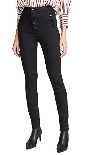 J Brand Jeans Women's Natasha Sky High Rise Skinny, Seriously Black, 24