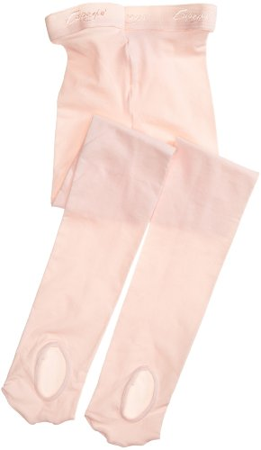 Capezio Girls' Ultra Soft Transition Tight, Ballet Pink, One Size (2-6)