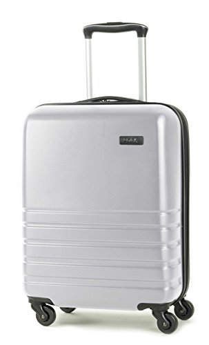 Rock Byron 55cm Ryanair Compliant Carry-on Hardshell Four Wheel Spinner Suitcase Silver