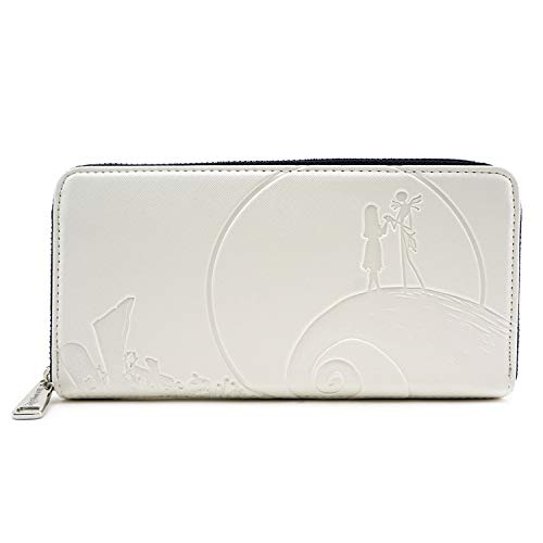 Loungefly x Nightmare Befor Christmas Debossed Wallet, Cream, One Size