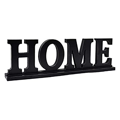 Wood Home Letter Sign Free Standing Cutout Word Decorative Table Sign for Home Decor