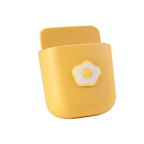 Zuoye Lindo soporte de control remoto montado en la pared de almacenamiento caja de almacenamiento autoadhesiva para el hogar oficina teléfono móvil caja de cepillo de dientes