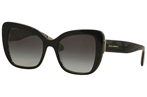 Ray-Ban Damen 0DG4348 Sonnenbrille, Schwarz (Black On Damascus Glitter Blac), 54.0