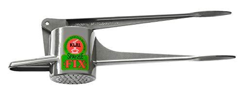 PREPARE OWN PASTA / NOODLES IN A FEW MINUTES! Original Kull Spaetzle-Schwob-Fix (Spaetzle like handmade) Press for SPAETZLE / FRESH NOODLES - POTATOES - not dishwasher safe! Incl. Spaetzle Recipe in English!