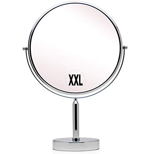 Mirrorvana XXLarge 11-Inch Oversized 3X/1X Magnifying Makeup Mirror with Stand, Double Sided, 17