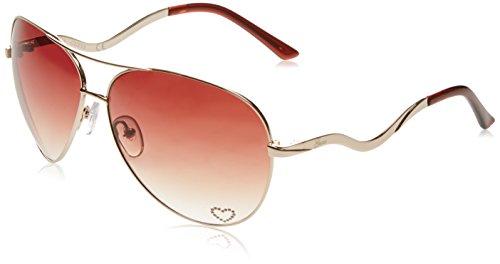 Guess Sonnenbrille GU7021 63H73 Gafas de sol, Dorado (Gold), 63 para Mujer