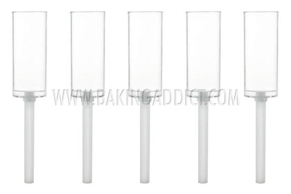 Baking Addict Wholesale Clear MINI Push-up Cake Pop Shooter (Push Pops) Plastic Containers with Base/Sticks - 6 Count