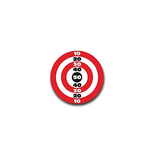 Aufkleber/Sticker Zielscheibe Schießen Schütze Sport Ziel Treffpunkt 7x7cm A1310
