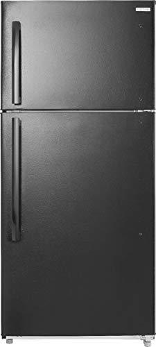 Insignia - 18.1 Cu. Ft. Top-Freezer Refrigerator - Black