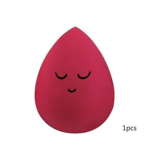 1pcs Goutte D'eau Forme De Maquillage Puff Cosmétiques Éponge Blending Visage Liquide Fond De Teint Crème Make Up Cosmétiques Powder Puff (Color : Red)