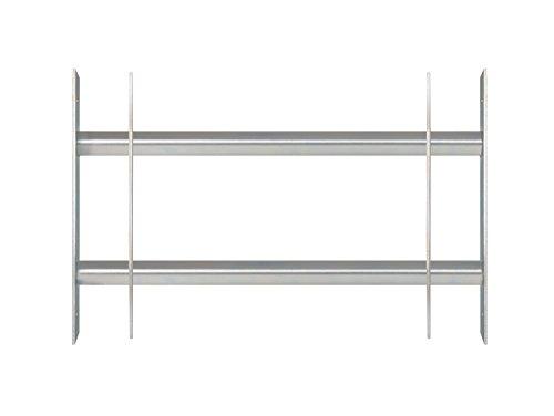 GAH-Alberts 563677 Fenstergitter Secorino Basic - Ausziehbar für Fenster außen - galvanisch blau verzinkt - Einbruchschutz Gitter - 300 x 500-650 mm