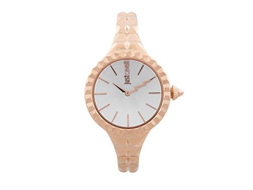 Just Cavalli Damen Datum klassisch Quarz Uhr mit Edelstahl Armband JC1L002M0045
