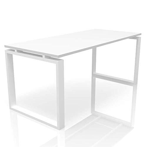 OFICIT Mesa de Oficina Blanca Fabricada en España. Disponible en Varios tamaños y Colores de Pata. (Pata Blanca, 160X80)