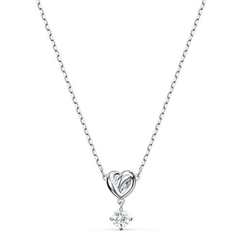 Swarovski Pendente Lifelong Heart, bianco, placcato rodio
