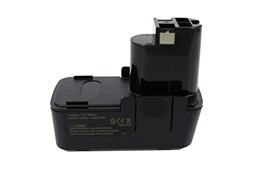 PowerSmart® 7.2V 1500mAh NiMH Batería para Bosch 2 607 335 031, 2 607 335 032, 2 607 335 033, 2 607 335 073, 2 607 335 153, Bosch GDR50, GNS 7,2 V, GUS 7,2 V, PSR 7,2 VES-2, BOSCH GBM 7,2, GSR 7,2. Serie