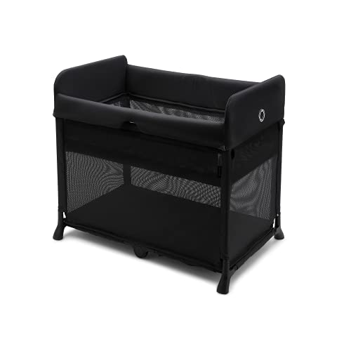 Bugaboo Stardust - All-in-one, Quick to Assemble, Black pop-up Travel cot and playpen for Babies and Toddlers with Mattress and Zip-in Bassinet