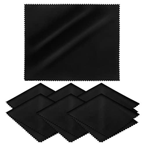 LEBEXY Brillenputztuch Microfaser Brillen Putztücher   Mikrofaser-Reinigungstuch Brillenputztücher Reinigungstücher   Bildschirm Reinigungstücher für Brille, Kamera, Display, Laptop, 6 Stück, 18x15cm