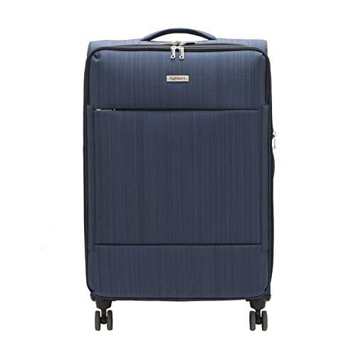 Highbury Savile Row Stylish Light Weight Expandable TSA Lock Luggage Cases Various Sizes 10 Years Warranty (Medium Case 67cm, Navy)
