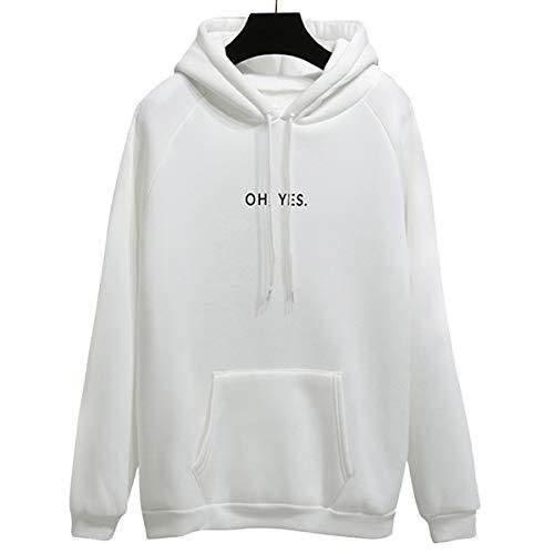 Taigood Damen Sweatshirts Pullover mit Kapuze Muster Drucken YES Casual Warm Outdoor Sport Hoodies Tops Herbst Winter