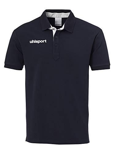 uhlsport Herren Poloshirt Essential Prime Polo Shirt, Schwarz/Weiß, 4XL, 100214901