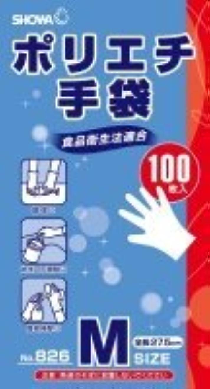 会社蒸それによって826ポリエチ手袋100枚 Mサイズ × 5個セット