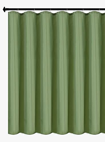 Biscaynebay Hotel Quality Fabric Shower Curtain Liners 72 Inch by 72 Inch, Sage Water Resistant Bathroom Curtains Rust Resistant Grommets & Weighted Bottom Hem Machine Washable