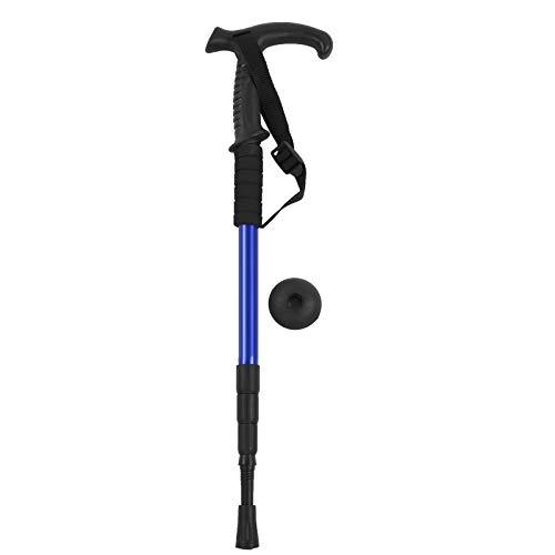 Bastón de Trekking Vbestlife, bastón de Senderismo al Aire Libre de aleación de Aluminio o bastón Antideslizante para Hombres, Mujeres, Ancianos al Aire Libre(Azul)
