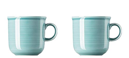 Thomas Trend Colours/Farben - Becher mit Henkel - 2er-Set - Henkelbecher Mugge Humpen Haferl Tasse Kaffeetasse Kaffeebecher (Ice Blue (EIS-Blau), 2 Stück)