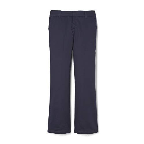 French Toast Girls' Big Bootcut Pant, Navy, 12 Slim