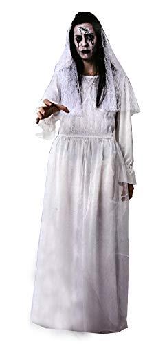 Gojoy shop-Disfraz de Novia Llorona para Mujeres Halloween Carnaval (Contiene Vestido y Velo, Talla Unica)