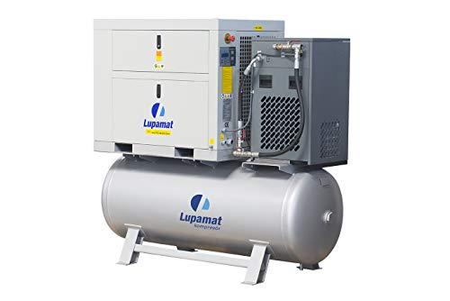 Lupamat-Riemengetriebener Schraubenkompressor mit angebautem Kältetrockner