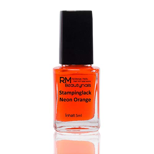Stampinglack Neon Orange 5ml Stamping Lack Nagellack Nail Polish RM Beautynails
