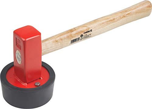 Meister Plattenverlegehammer - 2430 g Kopfgewicht - Robuster Stiel aus Eschenholz - Für Gehweg- & Terrassenplatten / Verbauhammer mit vulkanisiertem Gummikopf / Pflasterhammer / Gummihammer / 2246000