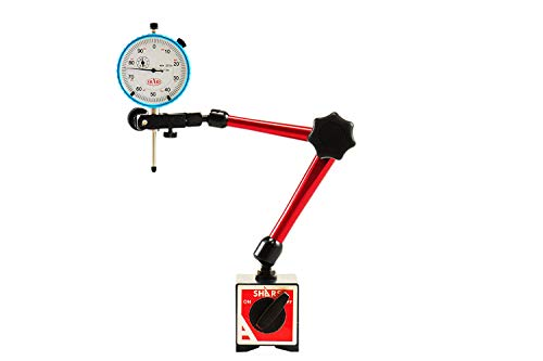 Shars 135 LBS Holder Power Magnetic Base Fine Adjustment with 1' .001' White Face Dial Indicator