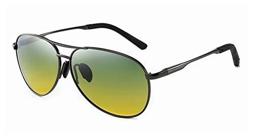 GO-AHEAD Gafas de Sol Hombres Gafas de Sol polarizadas Color de Hombres Cambiando el Espejo piloto Conducción de vidrios antifatiga (Lenses Color : C2)