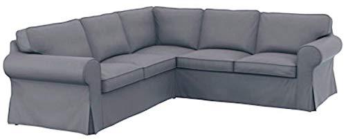 Il Cotone Spesso di Divano Ikea Ektorp 22Computer Realizzata su Misura per Ikea Ektorp Angolo o Sectional Sofa Slipcover Light Grey