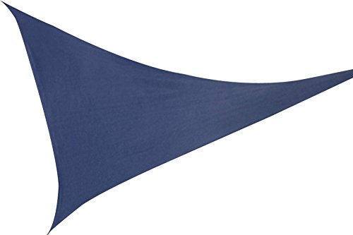 Voile d'ombrage triangle 3,6 x 3,6 m Bleu Auvent marquise Sonn